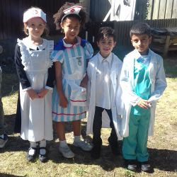 Year 2 present their Victorian Assembly