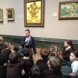Year 4 set off to the National Gallery