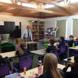 War-time Evacuee visits Year 6